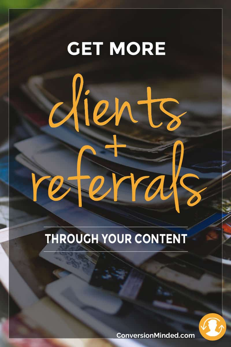 Ever wonder what your sales would look like if your next blog post struck a chord so deep your readers just had to work with you? It's easy to convert people into customers when you can articulate the way they feel, better than they can. This post includes 6 tips for freelancers and creative entrepreneurs, which will help you get more clients and referrals with your blog. Click through to see all the tips!