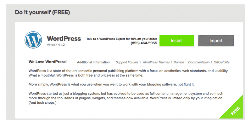 How to Start a Blog with WordPress: Step 2. Select Install